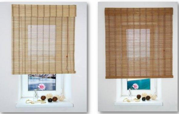 Бамбуковые рулонные шторы фото