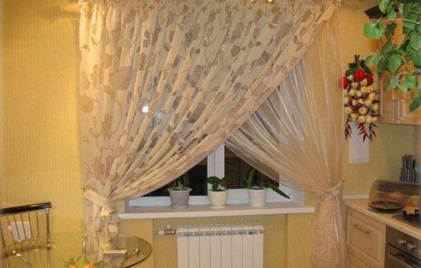 Как пошить шторы на кухню