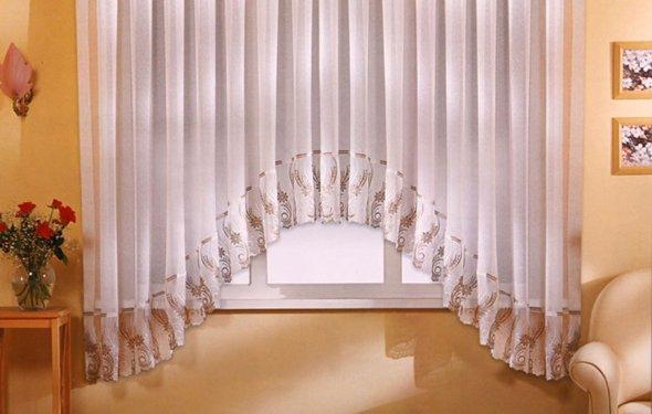 Как сшить штору аркой