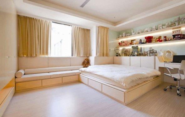 короткие шторы для спальни