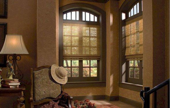 Римские шторы бамбуковые