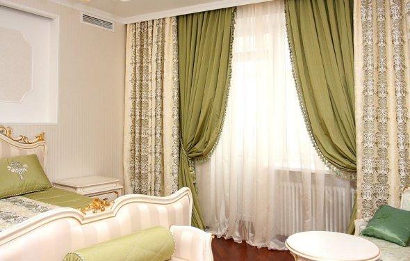 Дизайн штор для спальни: фото