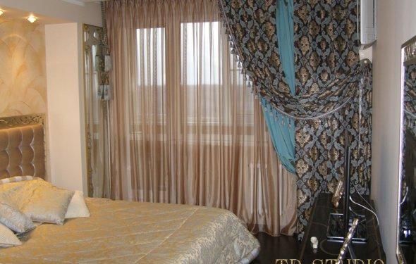 Дизайнерские шторы спальня