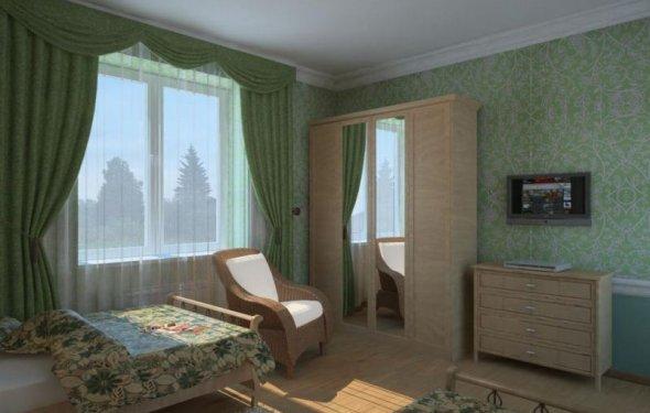 шторы для спальни салатовых