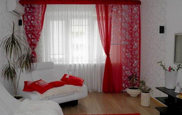 Варианты штор для гостинной