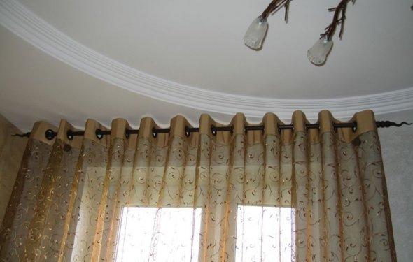 Видео как сшить шторы с