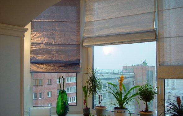 Виды римских штор фото